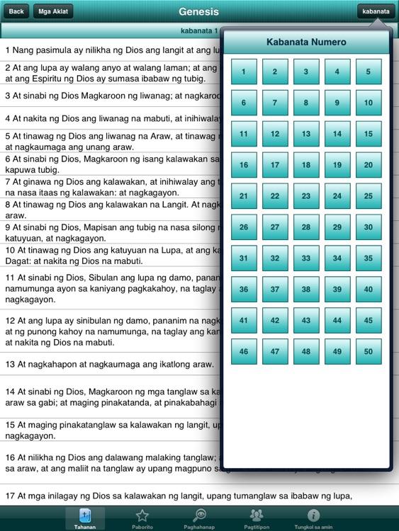 Holy Bible in Filipino Offline screenshot-4