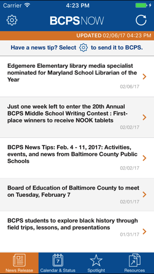 Baltimore City Schools Calendar.Bcps Now On The App Store