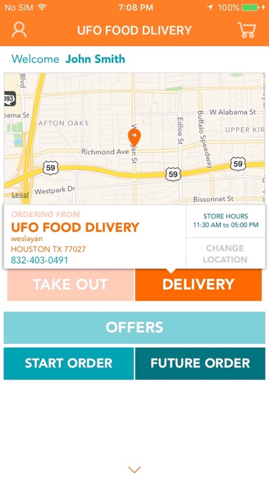 UFO food delivery screenshot one