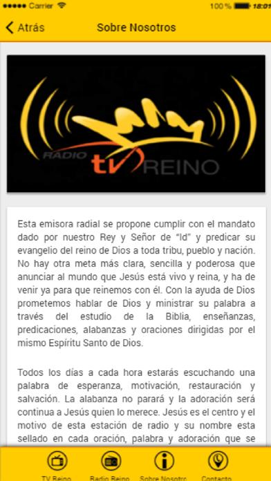 Radio y TV Reino screenshot three