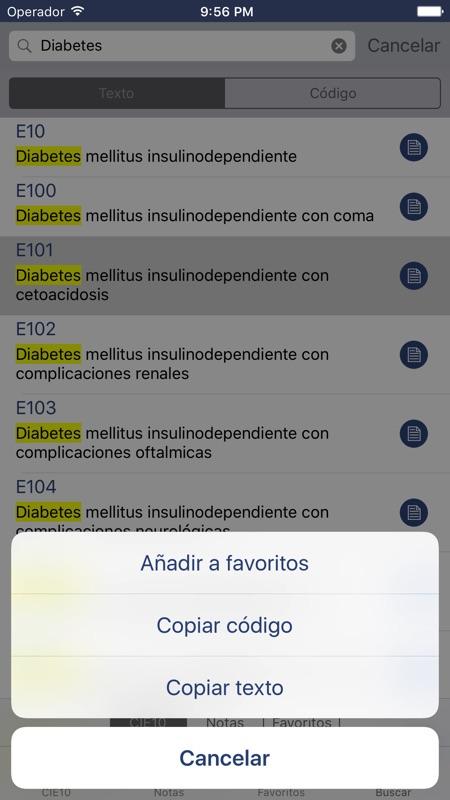 ¿Cuál es el código ICD para la diabetes mellitus?