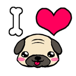 Cutie Pug Stickers Pack