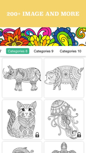 Animals Adult Coloring Book Pages For Anti Stress On The App Store