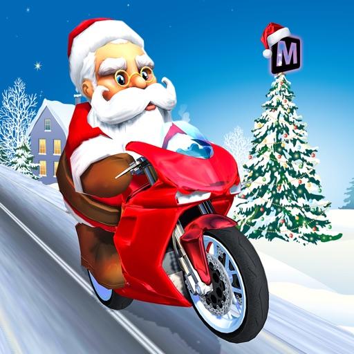 Crazy Santa Moto Gift Delivery Simulator iOS App