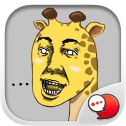 Jookgru Giraffe Stickers & Keyboard By ChatStick