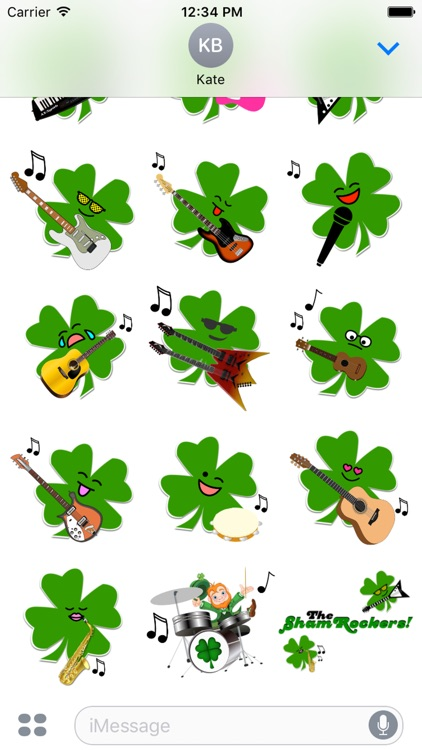 ShamRockers!: Animated Stickers screenshot-2