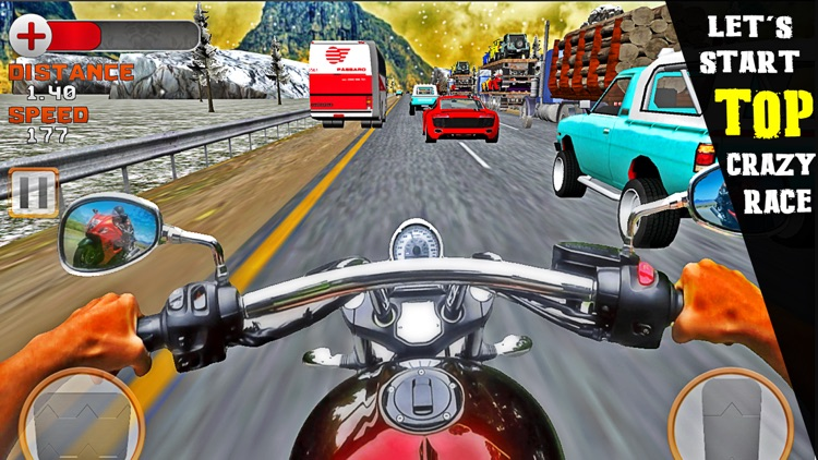 VR Crazy Bike Race: Traffic Racing Free screenshot-3