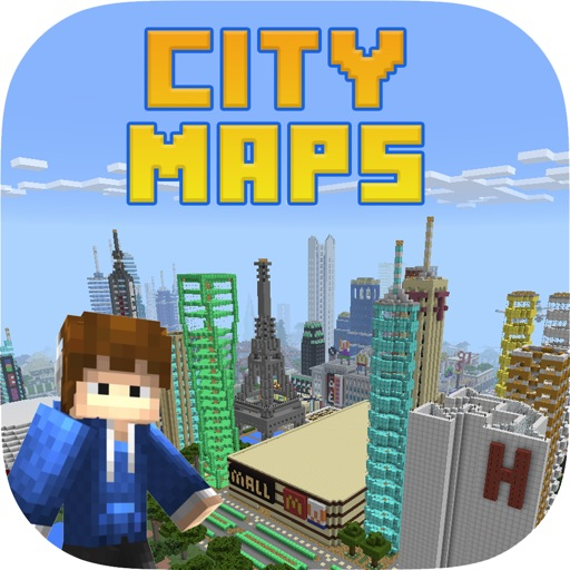 Epic City Maps for Minecraft PE Pocket Edition app logo