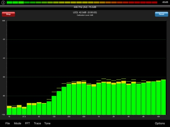 Screenshot #5 pour PocketRTA HD - Spectrum Analyzer