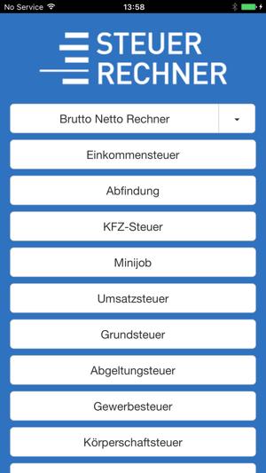 Steuerrechner 2019 Im App Store
