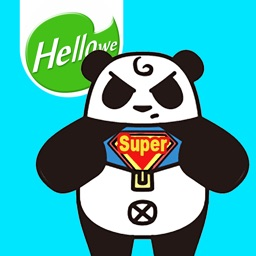Hellowe Stickers: Black and White Panda