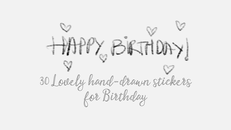 Hand Drawn Birthday Stickers