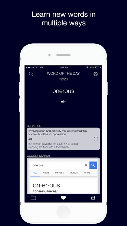Word of the Day with Vernie + Dictionary