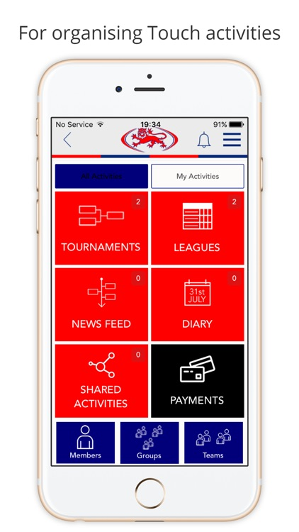 England Touch app image