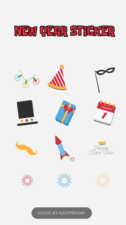 Funny New Year Stickers