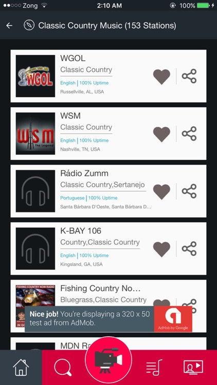 Classic Country Music FM Radio Stations