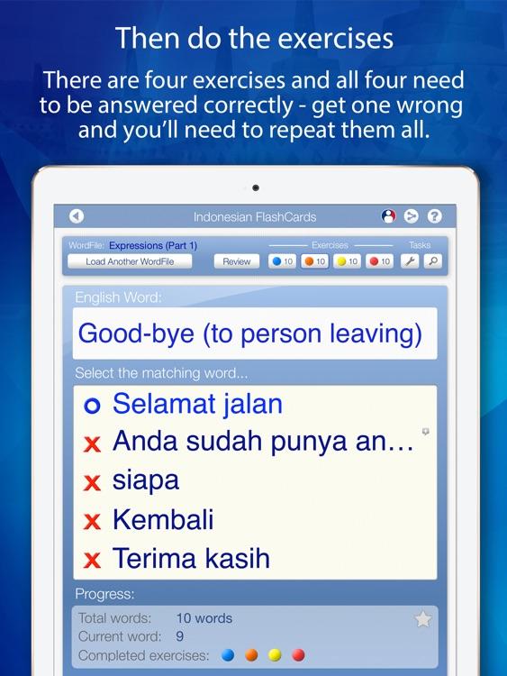 Learn Indonesian FlashCards for iPad screenshot-3