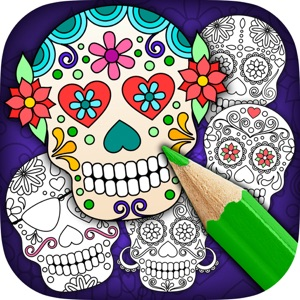 Mexican Sugar Skull Mask – Coloring Pages