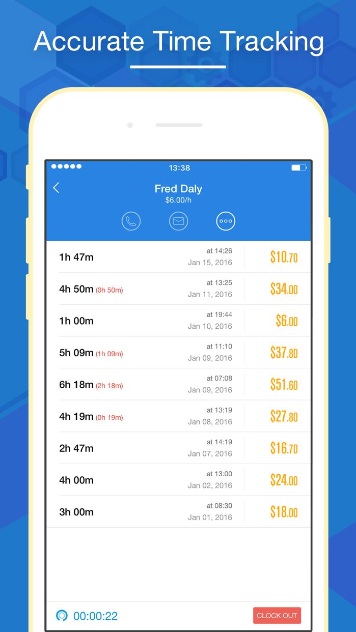 Hours Keeper - Time Tracking, Timesheet & Billing Screenshot