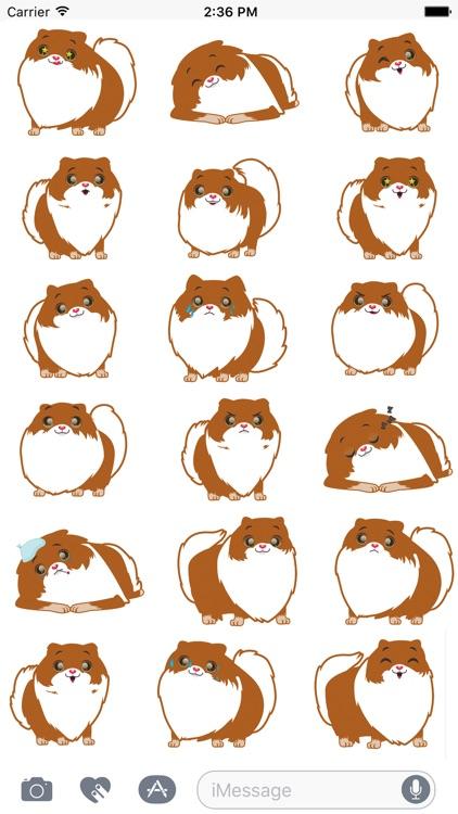Pom Pom Pomeranian Stickers