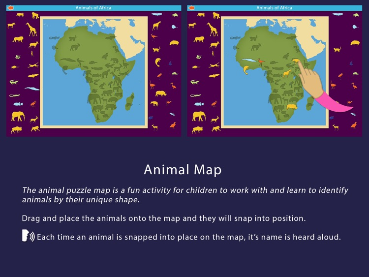 Animals of Africa - Montessori Geography screenshot-4
