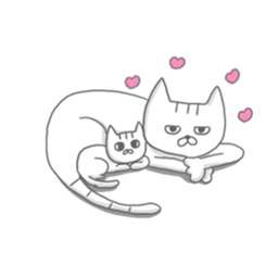 Mother Cat and Her Kitten Sticker