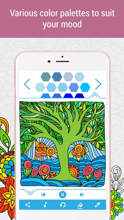 Anti-stress Coloring Book Calm screenshot-4