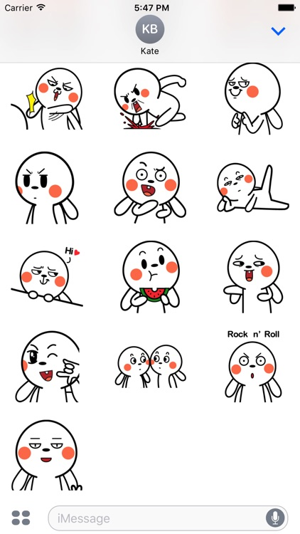 Crazy Bunny Animated Stickers