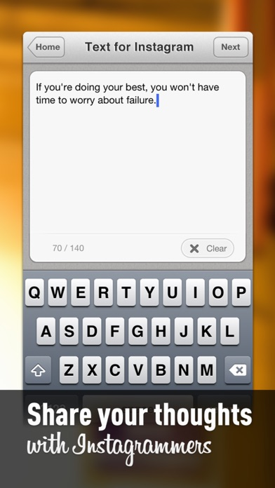 Text For Instagram Pro review screenshots