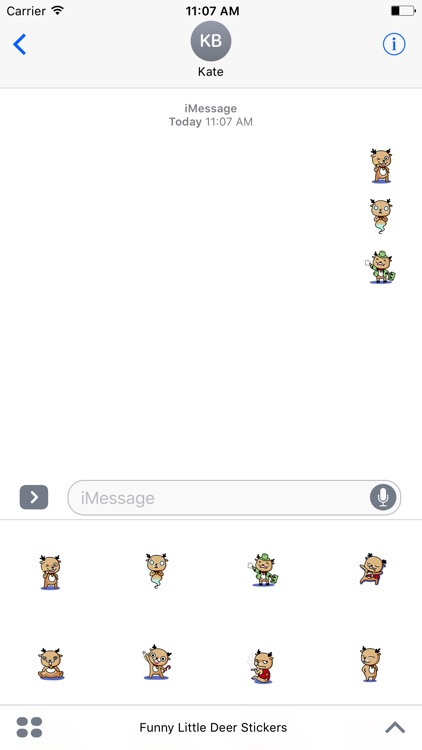 Funny Little Deer Stickers Pack For iMessage