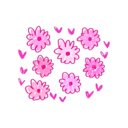 Flower Words - Text Message Stickers Pack 1
