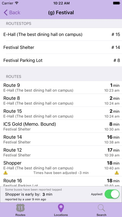 The JMU Bus App screenshot-2