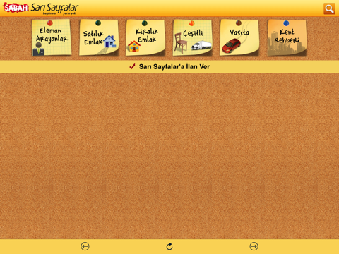 Screenshot of Sarı Sayfalar