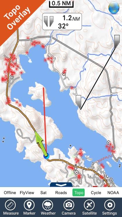 Pacific Rim Reserve NP GPS charts Navigator