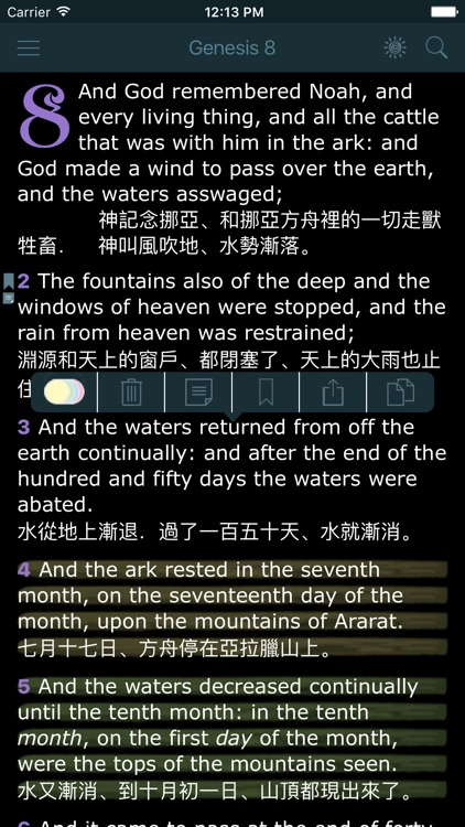 Chinese English Bilingual Bible King James Version screenshot-1