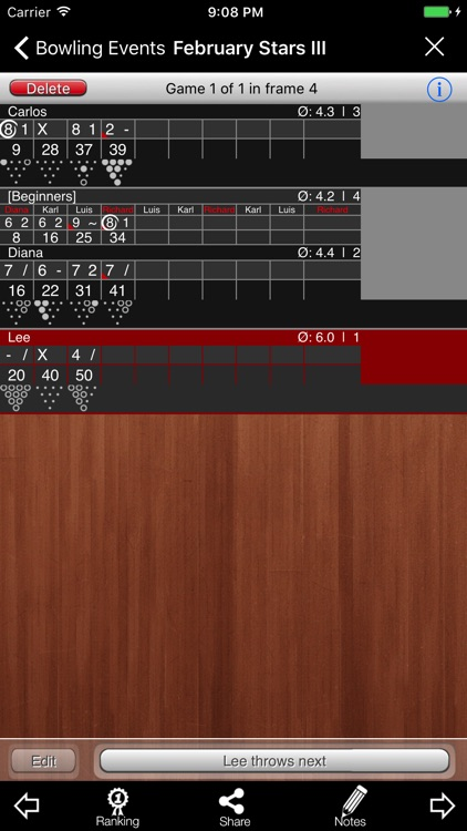 Bowling Scoreboard screenshot-1