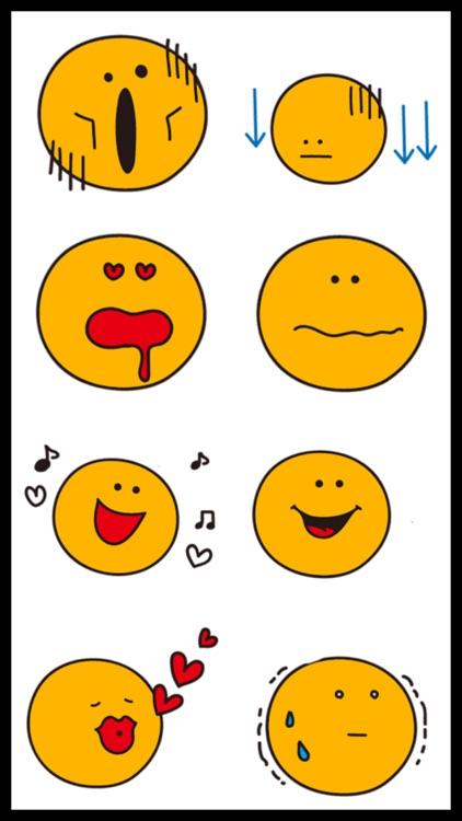Cute Orange Emoji Stickers