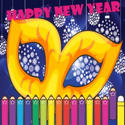 Happy New Year & Merry Christmas Coloring Games