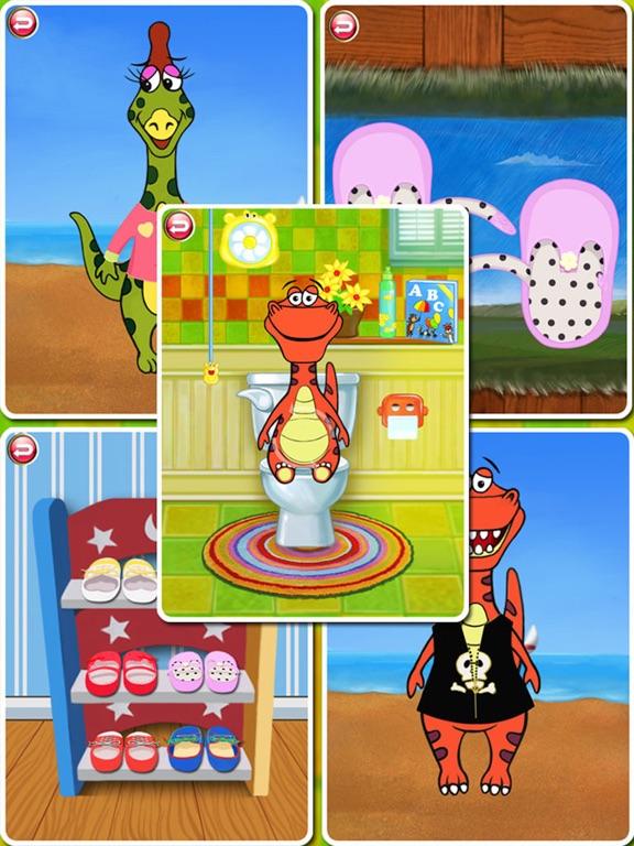 Dino Bath & Dress Up- Potty training app for kids-ipad-0