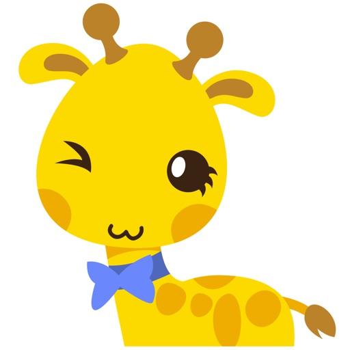 Gimboo, funny little giraffe for iMessage Sticker
