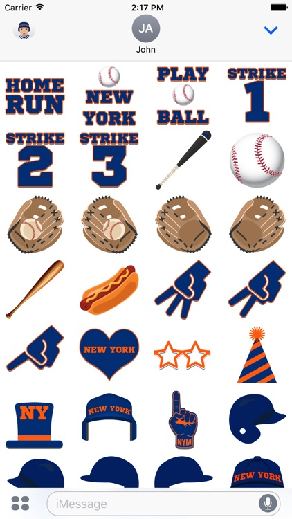 New York M Baseball Stickers & Emojis screenshot-3