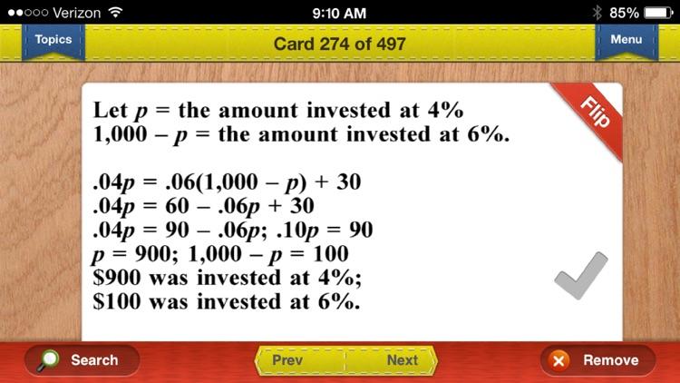 PSAT Prep Math Flashcards Exambusters