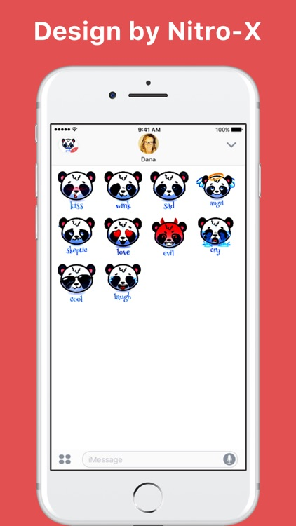 Panda Emoji Stickers stickers for iMessage