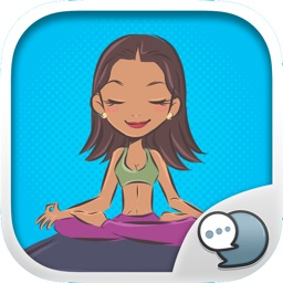 Yoga Up ! Stickers for iMessage By Chatstick