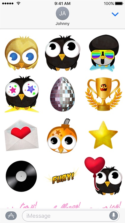 Birdy Party Stickers