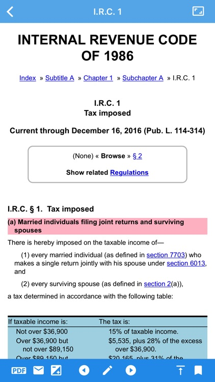 Tax Code and Regulations - TouchTax Mobile App screenshot-3