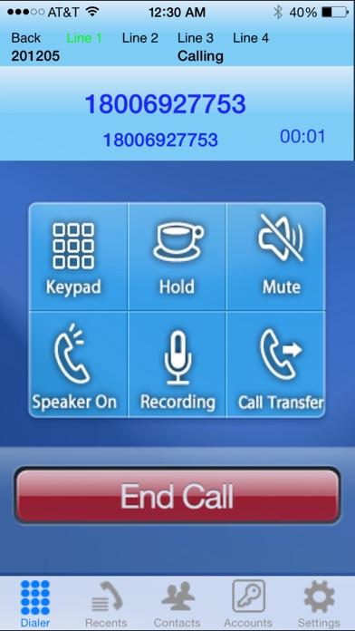 iSip -VOIP Sip Phone Screenshot 1