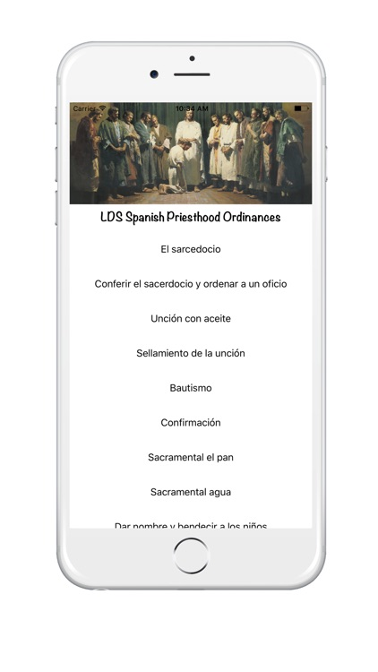 LDS Spanish Priesthood Ordinances