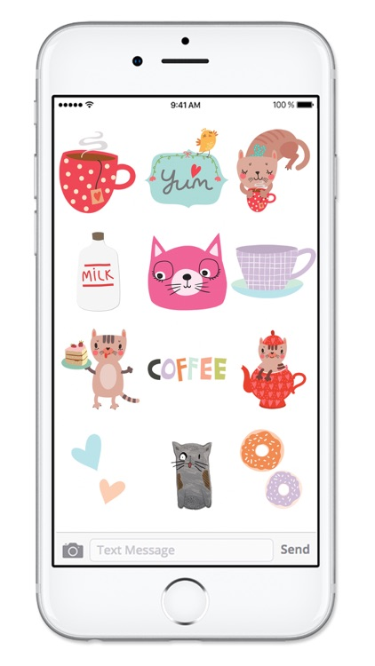 Cats and Coffee Sticker Pack screenshot-3