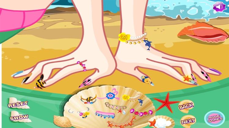 Nail Mermaid Princess Art Salon Fashion girls game